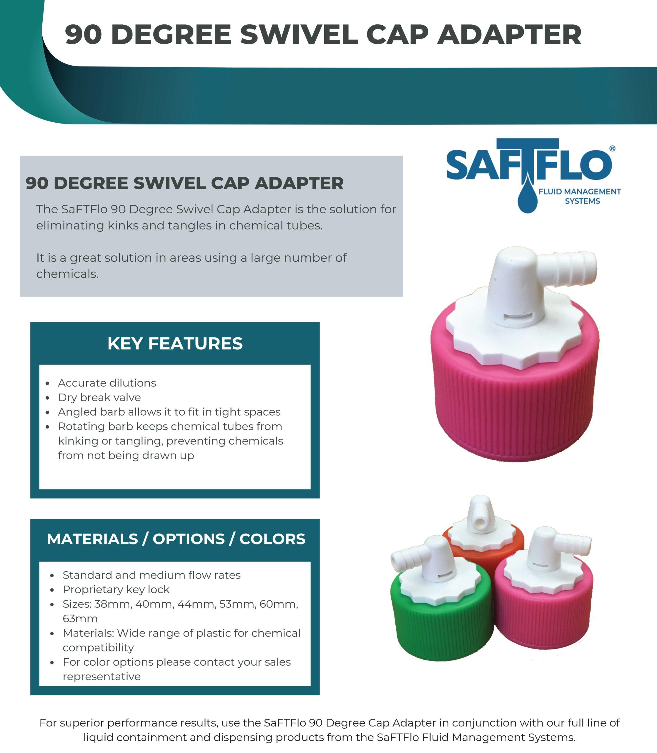 SaFTFlo Fluid Management System   Swivel Cap Adapter