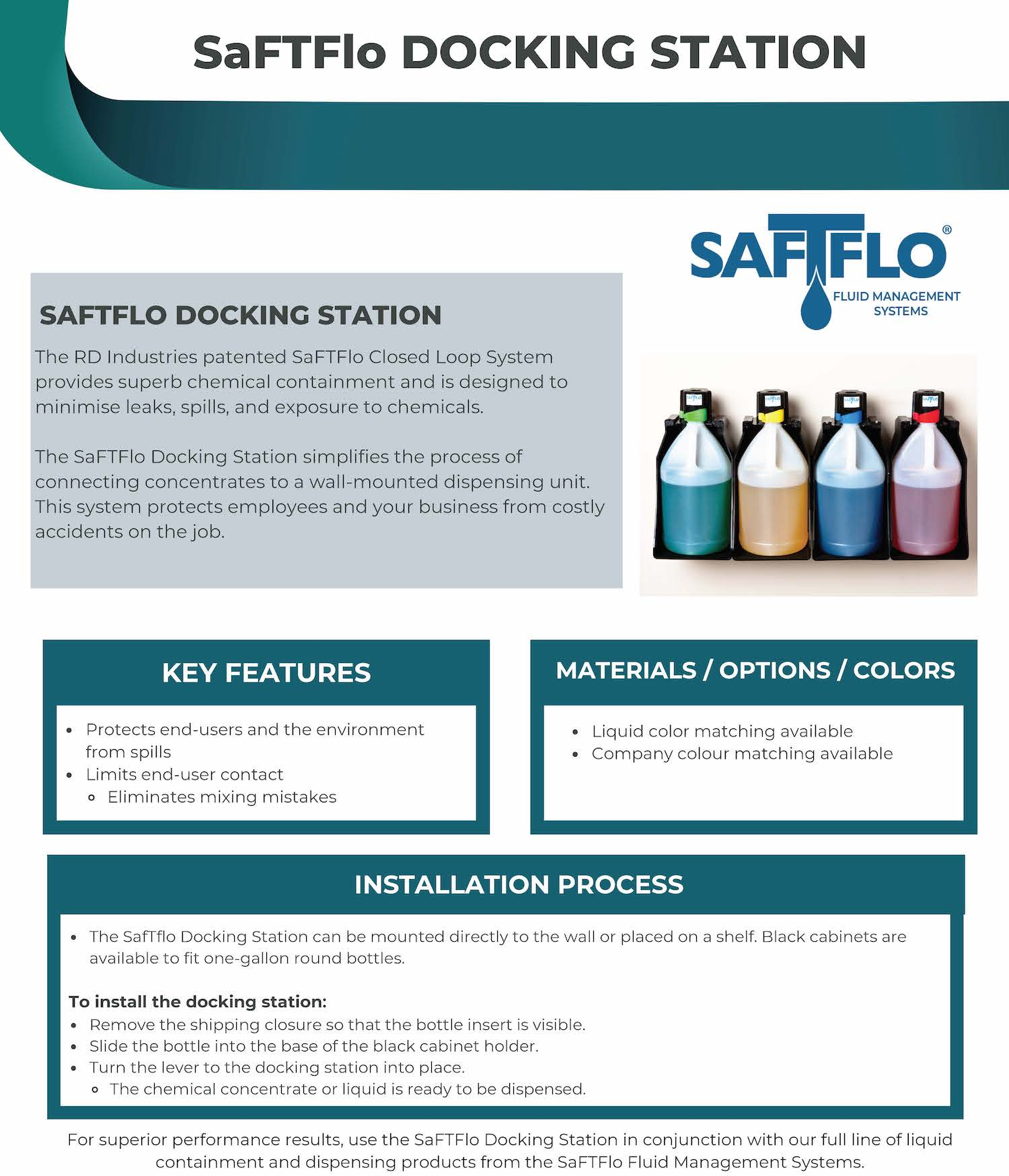 SafTflo Fluid Management System | Docking Station