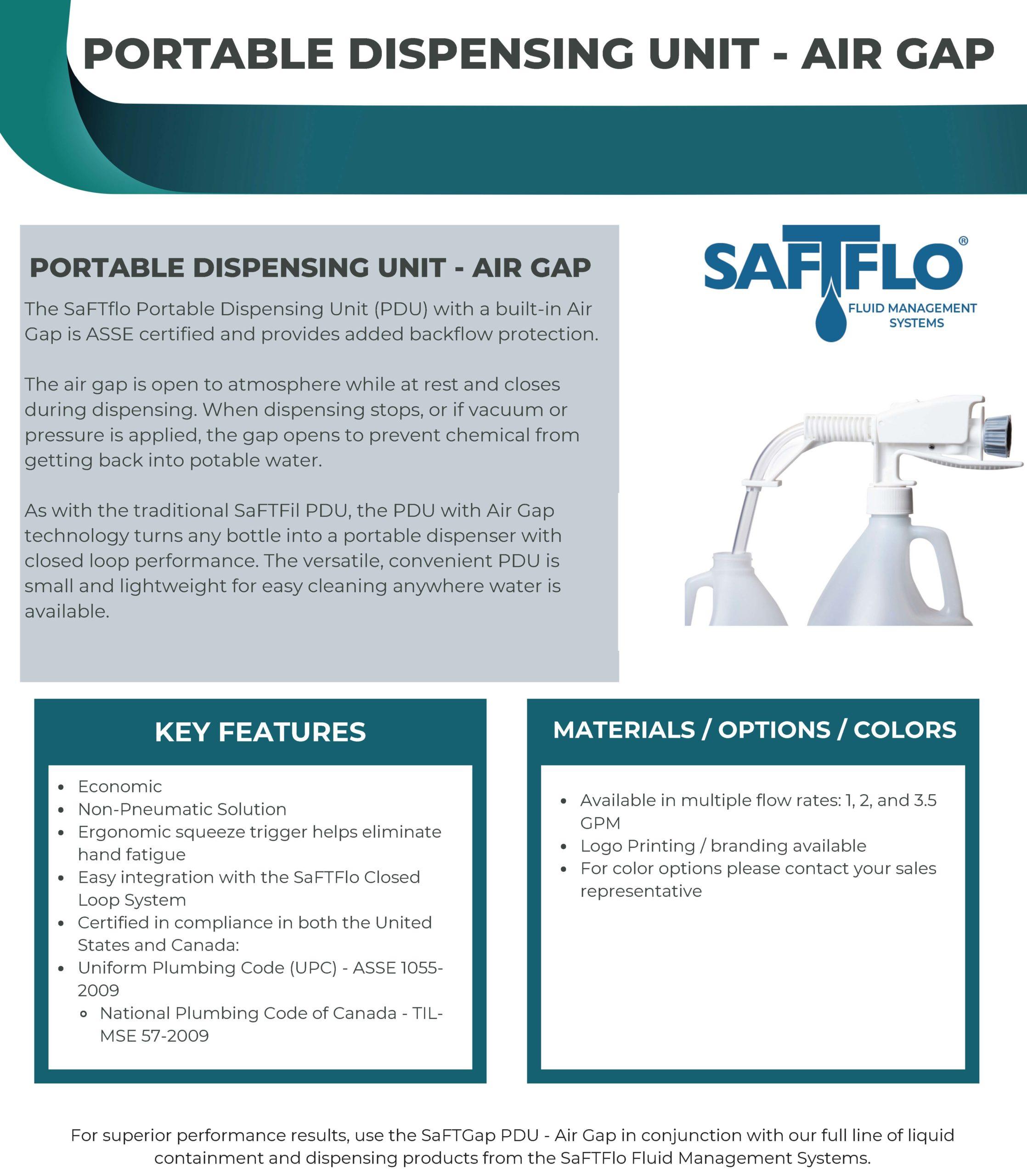 SaFTFlo Fluid Management Systems | PDU With Air Gap
