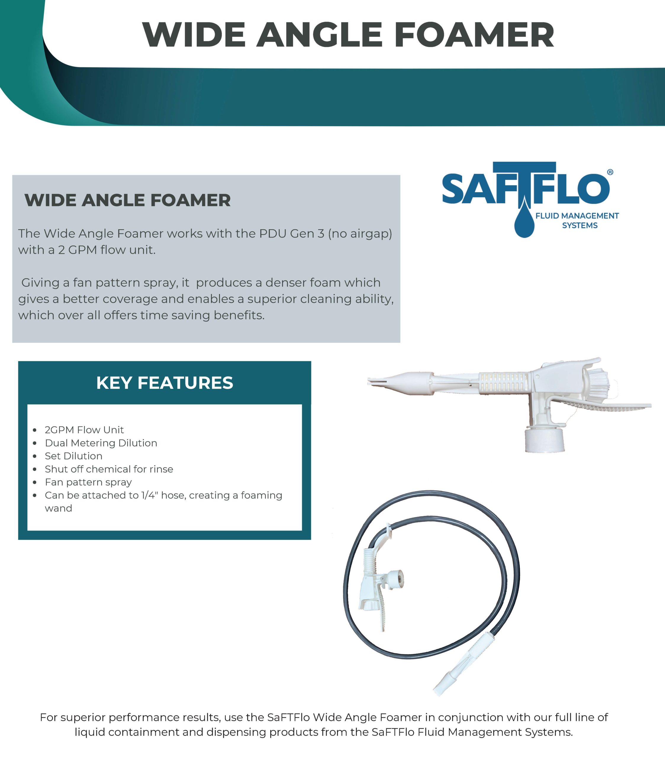 SaFTFlo Fluid Management Systems | Cap Adapters - Foamer