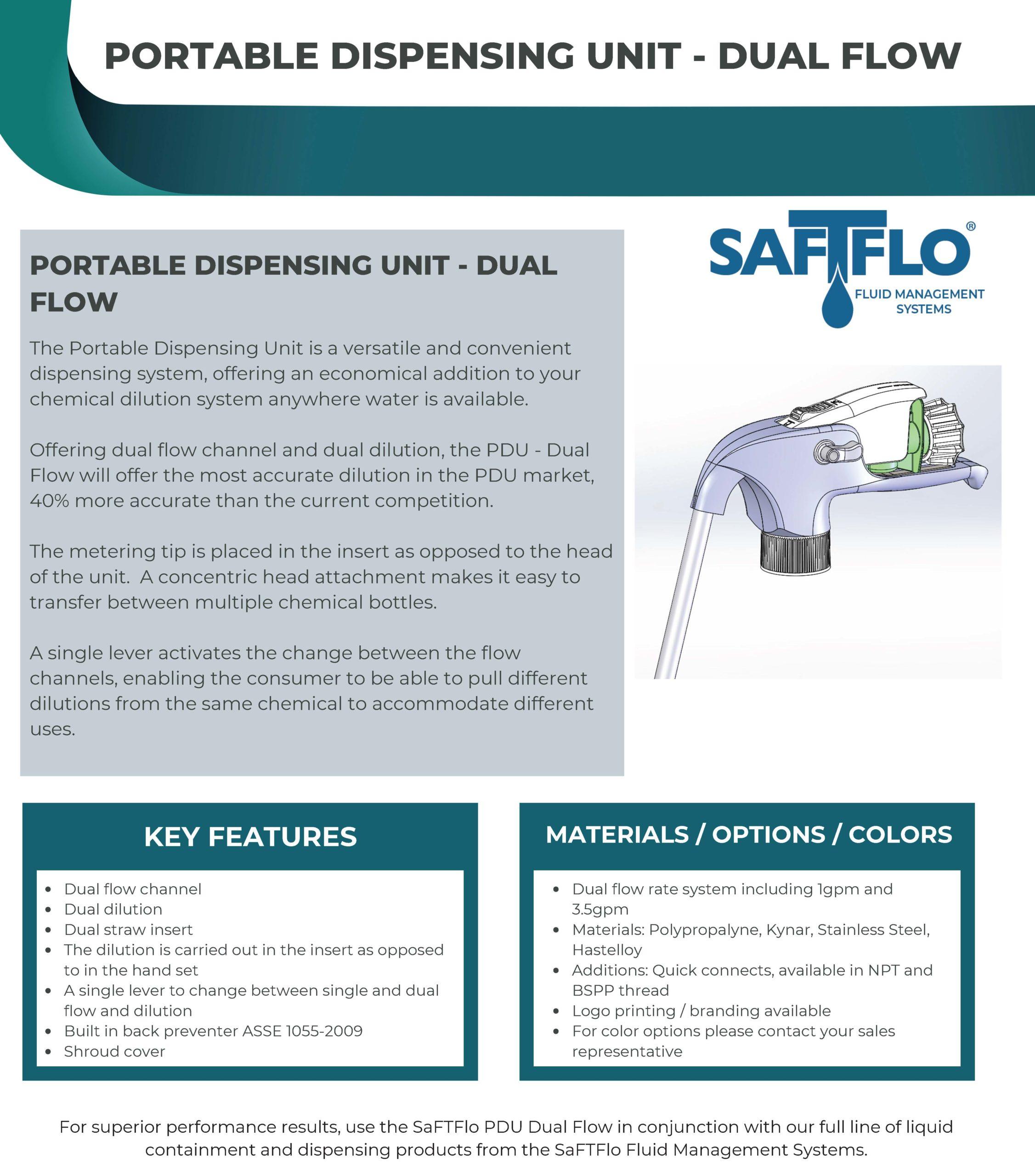SafTflo Fluid Management System | Dual Flow PDU