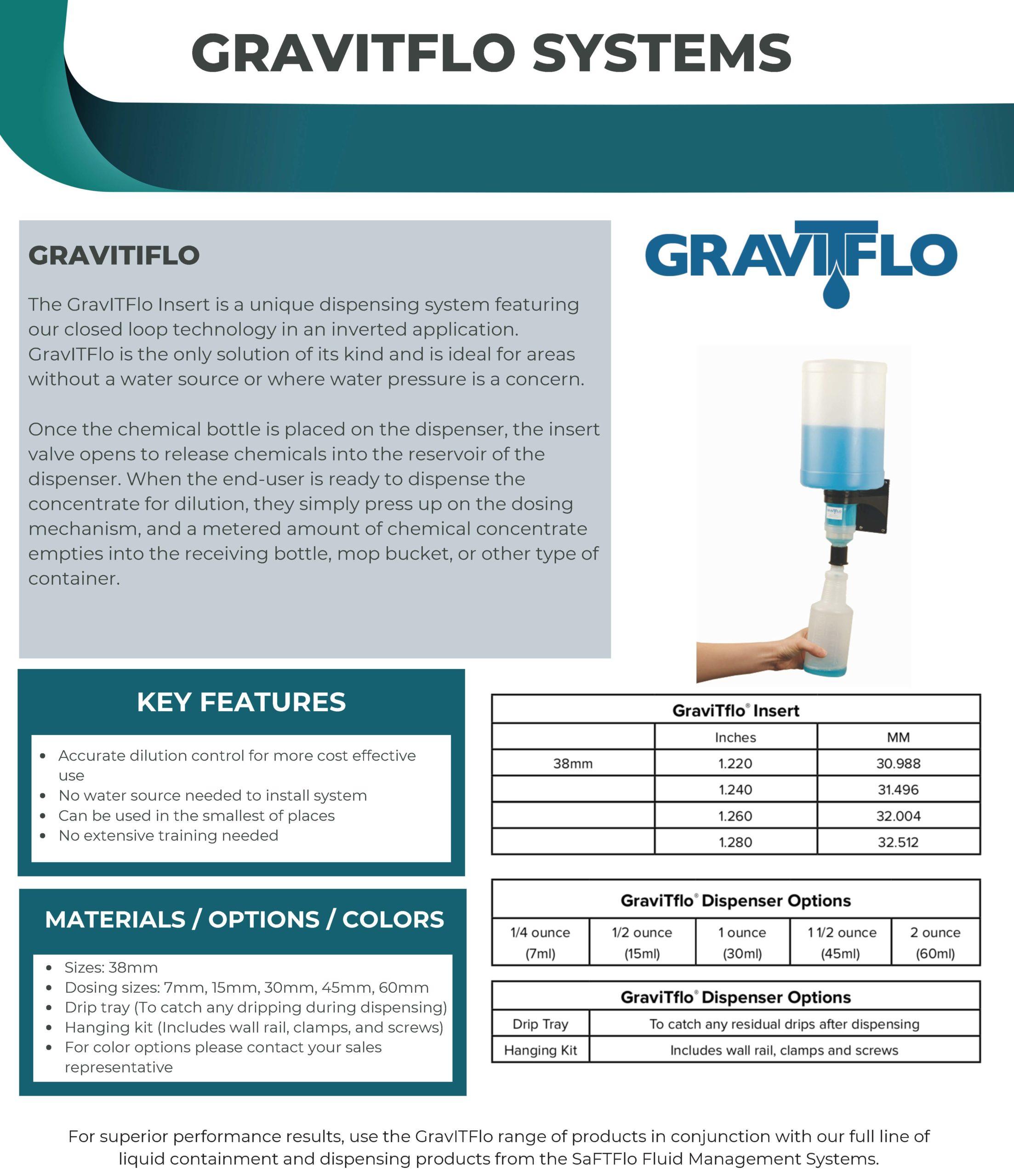 SafTflo Fluid Management System | GravitTflo