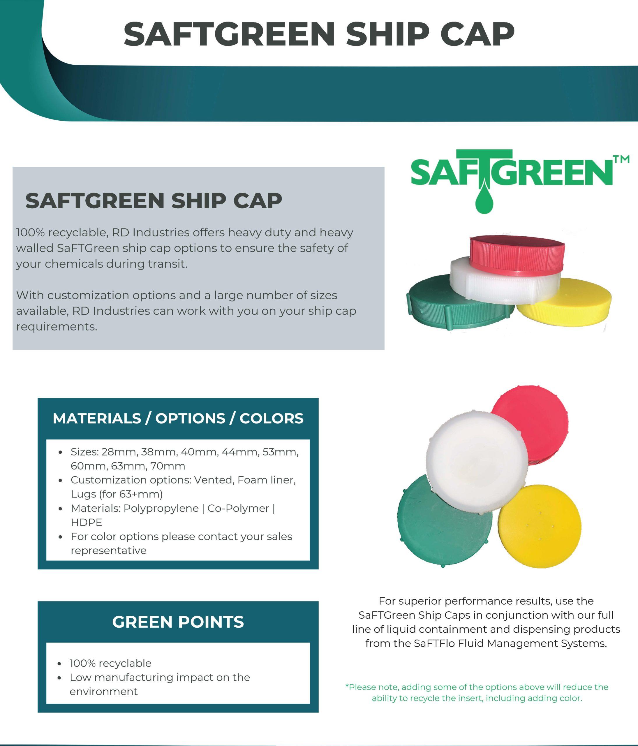 SaFTFlo Fluid Management Systems   SafTGreen Ship Cap